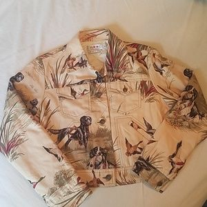 Vintage Isaac Mizrahi short denim jacket